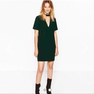 Green Zara Dress- Size Medium- Worn Once
